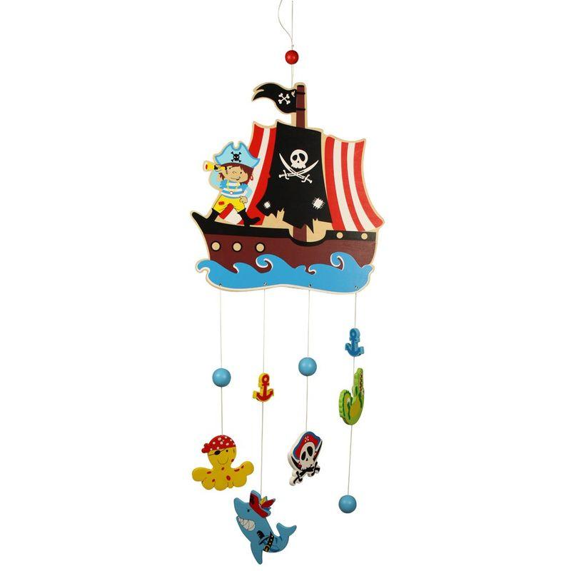 Bigjigs Toys Závěsný kolotoč piráti