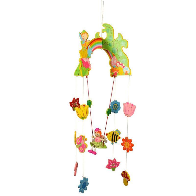 Bigjigs Toys Závěsný kolotoč víla s květy