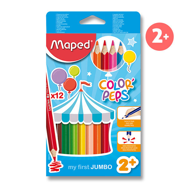 Pastelky MAPED ColorPeps jumbo